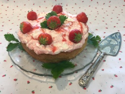 STRAWBERRIES & CREAM CAKE     recipe