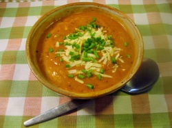RED LENTIL & BACON SOUP recipe
