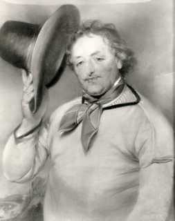 """John """"Smoaker"""" Miles (1720-1794).  Brighton's most famous """"bather"""", swimming instructor and friend of George, Prince of Wales.  The Prince named a racehorse after him and introduced the Smoaker Stakes to Brighton Races in 1806.  Miles died in 1794, aged 74.  He is buried in St Nicholas's churchyard."""
