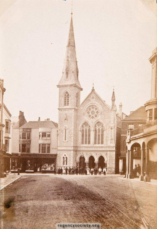 Photograph probably taken in 1871 the year the rebuilt chapel was opened.  Image reproduced with kind permission of The Regency Society and The James Gray Collection.