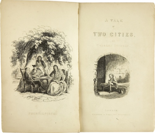 The title page of the first edition of the novel, published by Chapman and Hall in London,