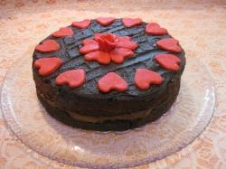 RICH CHOCOLATE CAKE  with chocolate ganache