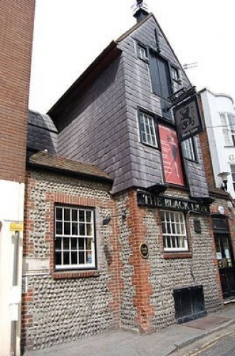 Photo by Tony Mould. The Black Lion brewery was established in 1546 by Deryck Carver. Carver was the first Protestant to be martyred under Mary I.