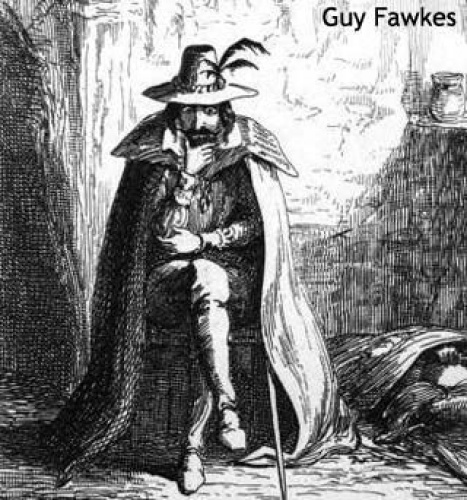 Although he was hanged in many places Guy Fawkes is annually burned in effigy.  A particularly large one, burnt in London in the reign of Charles II, was stuffed with live cats so that the 'Guy' could squeal realistically when he was consigned to the flames.